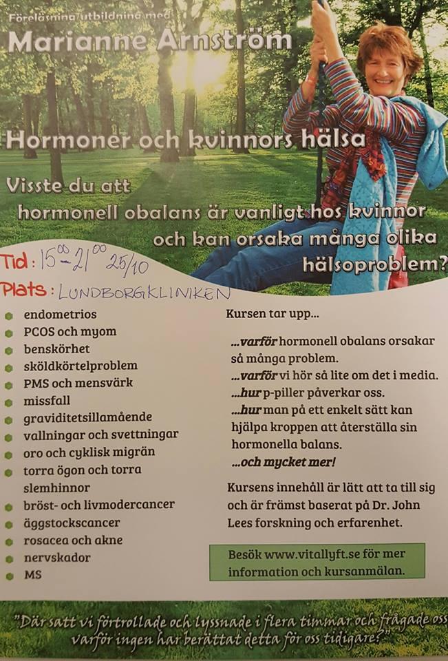 Hormonkurs med Marianne Arnström